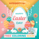 FREE Printable Easter Coloring Book For Kids